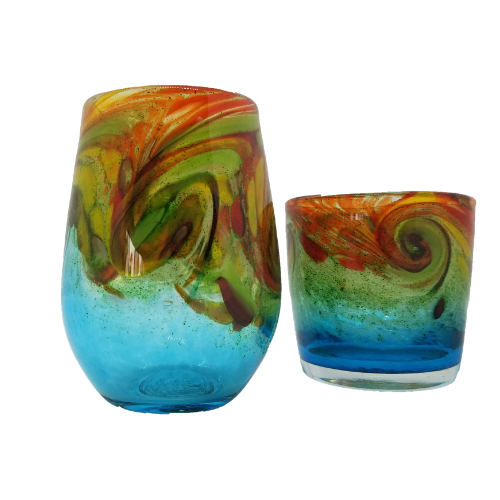Limited Edition Hand-blown drinking Glass October